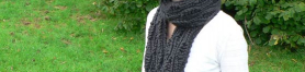 Thumbnail image for 'Gneissic' drop stitch scarf