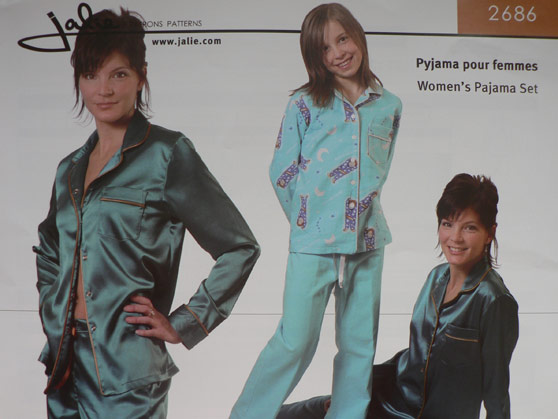 Jalie sewing pattern 2686 for pyjamas