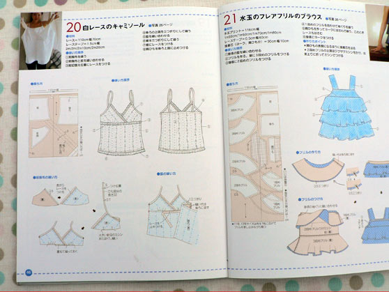 Instructions for pattern 20 from the Japanese book 'everyday tops'