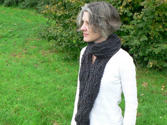 Me posing in scarf