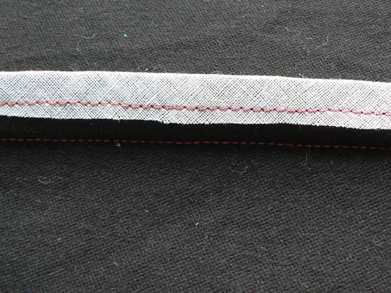 Underneath of fabric binding of seam edge