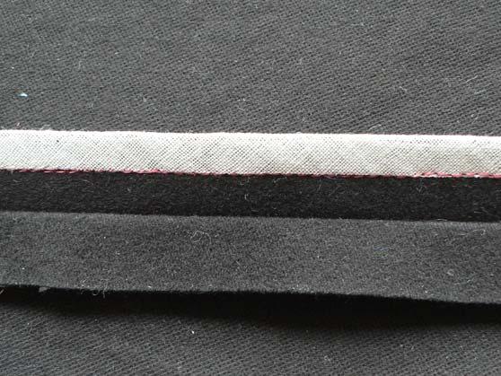 Fabric binding of seam edge