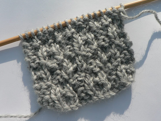 Dimple knitting stitch front