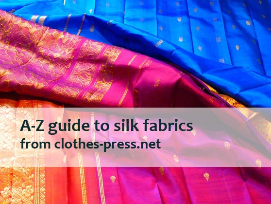 different silk fabrics