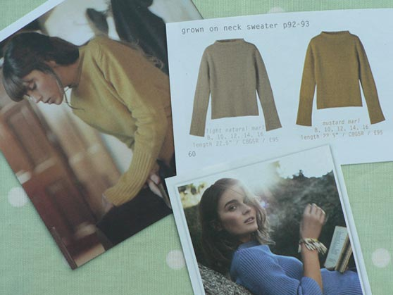 Wide-neck sweaters from TOAST catalogues