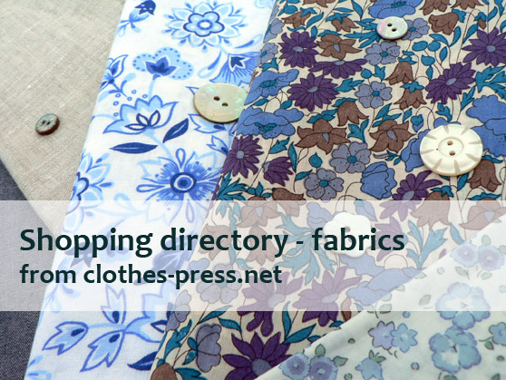 clothes-press shopping directory - fabrics