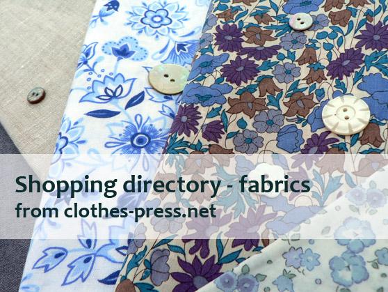 clothes-press shopping directory - fabrics